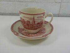 Johnson Bros Old Britain Castles Red & White Kenilworth Castle Cup and Saucer