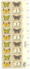 Scott 1712-15 13¢ Butterflies Plate Block Strip of 20 with Mr. Zippy and MED MNH