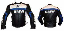 Nuevo BMW Moto/Motocicleta Montar Cuero Chaqueta Racing Motociclista-CE Blindado (Rep)