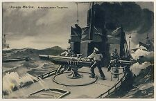 GERMAN WW I NAVY Firing Off Torpedo Abfeuern * AK um 1915 Marine-Feldpost