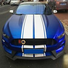 Completed White Parallel Style Car Sticker Decal  for Mustang