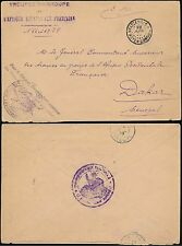 FRENCH AFRICA 1928 MILITARY MAIL CONGO to SENEGAL...AEF TROOPS COMMANDANT
