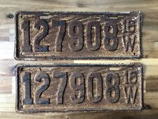 Collectible License Plate 1918 Wisconsin (Both) 127908