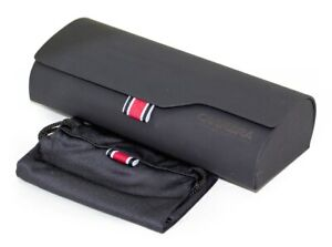 NEW CARRERA EYEGLASSES SUNGLASSES OPTICAL BK CLAM SHELL CASE SEALED SILKY POUCH