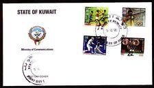 Kuwait 1996 FDC Mi.1465/68 Summer Olympics | Running Fencing Shooting [kf044]