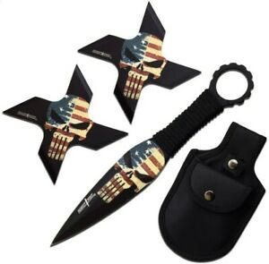 Ninja Training Throwing Stars Practice Dense Foam - Training Knife Set..Punisher