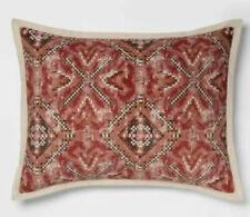 Threshold Red Velvet Medallion Standard Pillow Sham NEW
