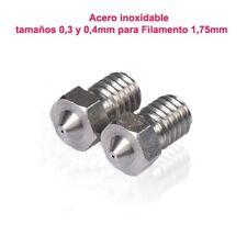J-Head Boquillas de acero inoxidable (Nozle) de 0,4 mm para extrusor hot end