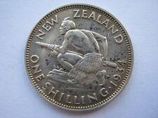 New Zealand 1934 silver Shilling, GVF.