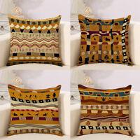 "18"" Africa Geometry Pattern Cushion Cover Linen Throw Pillow Case Sofa Car Decor"