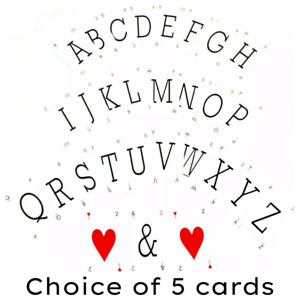 Lexicon Style Vintage Alphabetical Playing Cards - Pick & Mix Choose Any 5 Cards