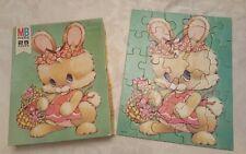 Vintage Milton Bradley Pastel Pets Bunny Rabbit Puzzle 25 Piece 1976 COMPLETE!