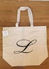 "NEW Pottery Barn Personalized Alphabet MEDIUM Grocery Tote Bag MONOGRAM ""L"""