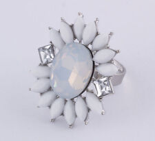Ovale Modeschmuck-Ringe aus Acryl