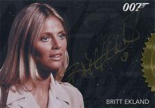 James Bond Archives 2015 Autograph Card Britt Ekland as Mary Goodnight