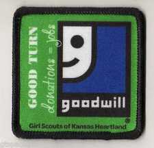Girl Scout Fun Patch Badge~ Goodwill Good Turn ~ Girl Scouts of Kansas Heartland