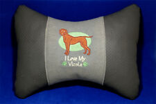 Embroidered car seat neck rest pillow - Hungarian Vizsla. Gift for dog lovers.