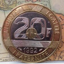 France: 20 Franc Tri-Metallic  KM#1008.2  B-259