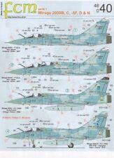 FCM 1/48 Mirage 2000B, C, -5F, D & N # 48040
