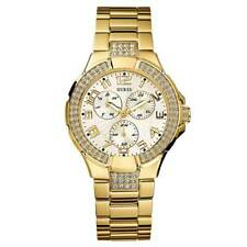 Guess L16540L1 Women's White Dial Yellow Gold Steel Crystal Watch