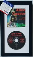ALICE COOPER SIGNED CD DISPLAY PSA/DNA COA SHOCK ROCK MUSIC AUTOGRAPHED SINGER