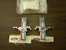 NOS 1968 Ford Mustang 302ci Fender Emblems Ponys