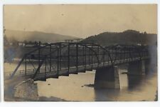 RPPC Iron Bridge PRR Railroad NEWPORT PA Perry County Real Photo Postcard