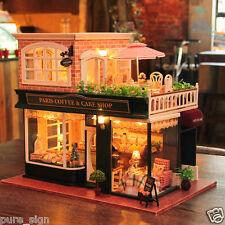 DIY Handcraft Miniature Project My Little Coffee Shop n Paris Wooden Dolls House