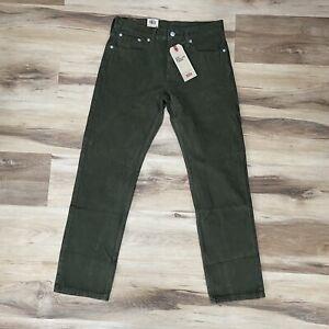 Levi's Levis 502 Regular Taper Green Corduroy Stretch Pants Mens 29 x 30 $69