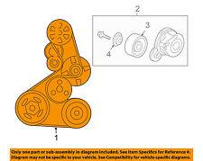 HONDA OEM 08-12 Accord-Serpentine Drive Fan Belt 56992R40A01