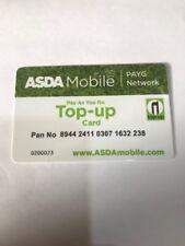 ASDA  Mobile PAYG Top-up swipe card New Free Postage !!