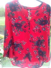 Joules Ladies Floral Shirt Tunic Size 18