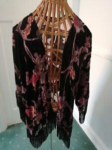 Velvet devore kimono