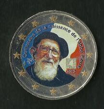 2 Euro Commémorative France 2012 Abbé Pierre Couleur / Colorisé