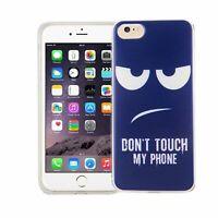 Téléphone Housse Pour Apple IPHONE 7 Don'T Touch Blau Étui Coque Motif TPU Neuf