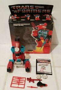 Vintage Transformers Original G1 Perceptor w/ BOX 1985 Hasbro 100% Complete