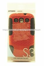 ATOMIC9 WIRELESS Designer Phone Case RED+BLACK For Samsung GALAXY S3 New!