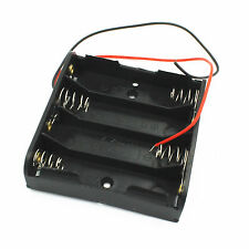 1Stk. Neu Plastic Battery Case Box Holder Wire Lead for 4XAA 4*AA 6V