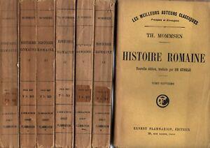 MOMMSEN. HISTOIRE ROMAINE Flammarion 1928 7 volumes  complet