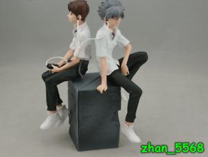 Anime Neon Genesis Evangelion Nagisa Kaworu & Ikari Shinji PVC Figure New In Box