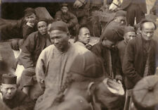 Vintage 1900 Photograph a Group of Chinese coolies,Tien Tsin /Tianjin