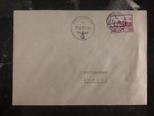 1943 Occupied Jersey Channel Island Feldpost Cover Doble Cancel