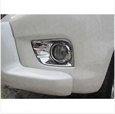 2010 2011 2012 2013 For Toyota Prado FJ150 ABS Chrome FRONT Fog Lamp Light Cover