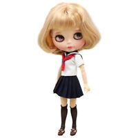 1/6 Handmade Adorable School Uniform (Set of 3) for 12'' Blythe Doll Clothes
