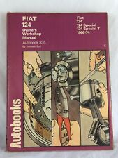 Fiat 124 Sport Owners Workshop Manual Autobook 925 Kenneth Ball 1966-74