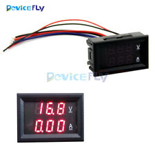DC 0-100V 10A Voltmeter Ammeter Dual Red LED Panel Amp Digital Volt Meter Gauge