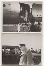 More details for winston churchill visiting raf, western europe, c1944/45, 3 old photos