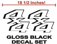 4x4 Truck Bed Decals, Gloss Black (Set) for Ford Super Duty, F-250, F-150