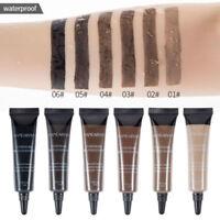 6Colors Long Lasting Eye Brow Tattoo Tint Dye Gel Eyebrow Cream Brush Waterproof