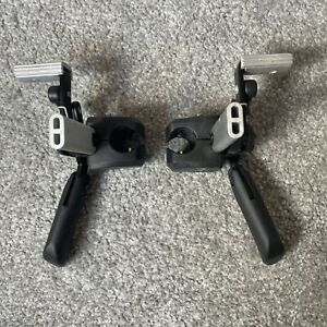A PAIR OF INVACARE ACTION 2 NG WHEELCHAIR REAR WHEEL BRAKES self propelled used